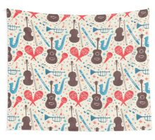 Music Instruments Pattern Wall Tapestry
