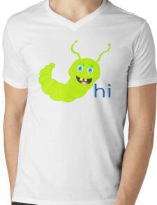 FRIENDLY CATERPILLAR Mens V-Neck T-Shirt