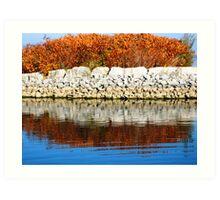 Water Reflection I (lakeshore) Art Print