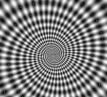 Awesome dots spiral optical illusion Sticker