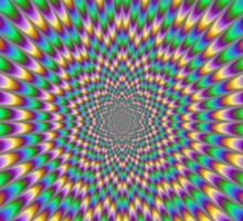 Trippy optical illusion. Look carefully ;) Sticker