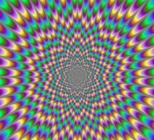 Trippy optical illusion. Look carefully ;) Sticker