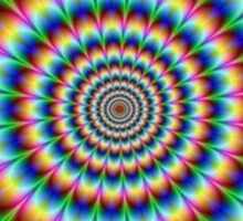 Awesome trippy optical effect Sticker