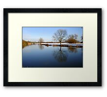 Calm River.. Framed Print