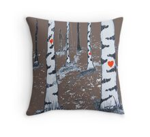 Moonlit woods Throw Pillow