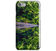 Forest Reflection With Fallen Tree iPhone Case/Skin
