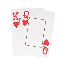 Two Hearts blank playing cards by Arletta Cwalina