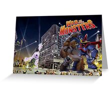 War of the Monsters Cover Art Greeting Card
