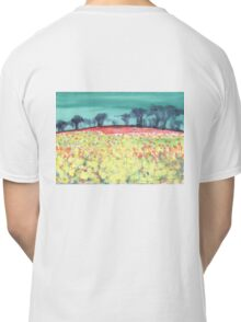 Field of spring flowers Classic T-Shirt