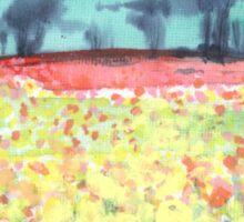 Field of spring flowers Sticker