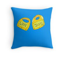 love and hate Throw Pillow