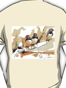 Zebra Finches on a branch T-Shirt