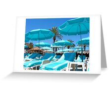 Sunbeds Greeting Card