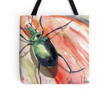 Green Carab Beetle Tote Bag