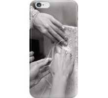 Bridal wedding dress buttons iPhone Case/Skin
