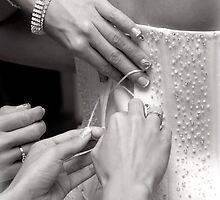 Bridal wedding dress buttons by Arletta Cwalina