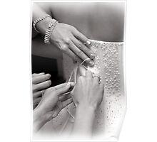 Bridal wedding dress buttons Poster