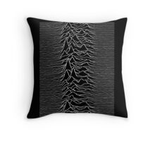 Pulsar waves - Black&White Throw Pillow