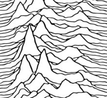 Pulsar waves - white&black Sticker