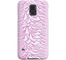 Pulsar waves - White&Pink  Samsung Galaxy Case/Skin