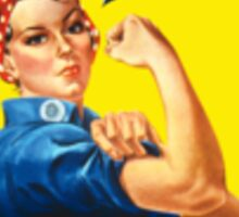 Retired Rosie the Riveter Sticker