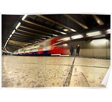 train underground london Poster