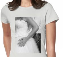 Bride and groom hugging together Womens Fitted T-Shirt