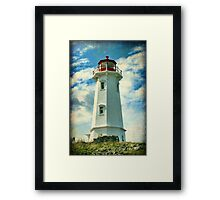 Louisbourg Lighthouse, Nova Scotia Framed Print
