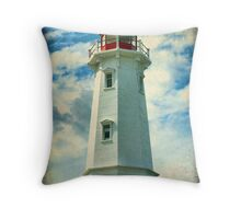 Louisbourg Lighthouse, Nova Scotia Throw Pillow