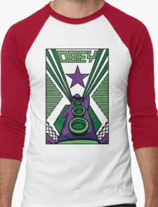 OBEY Purple Tentacle Men's Baseball ¾ T-Shirt