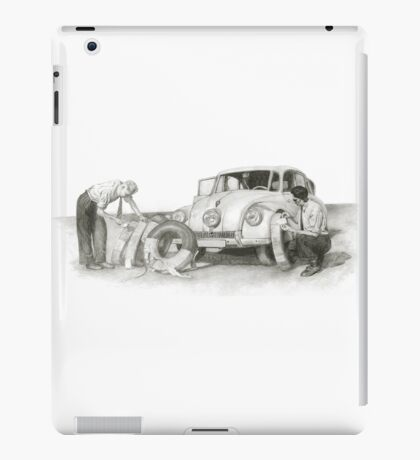 Travel and adventure with a historic car. iPad Case/Skin