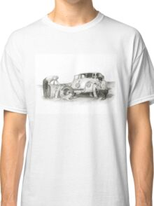 Travel and adventure with a historic car. Classic T-Shirt