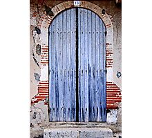 Blue door Photographic Print