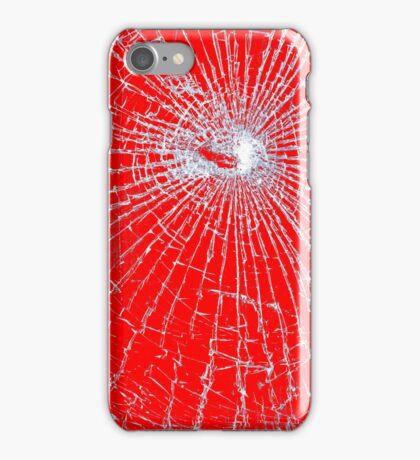 Broken Glass 2 iPhone Red iPhone Case/Skin