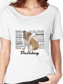 Bulldog Traits Women's Relaxed Fit T-Shirt