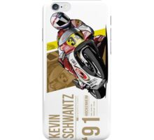 Kevin Schwantz - 1991 Hockenheim iPhone Case/Skin