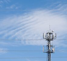 radio transmitter with antenna  by Arletta Cwalina
