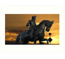 Statue of George Washington Art Print