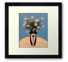 Flannel Flowers in a French Art Deco Vase Framed Print