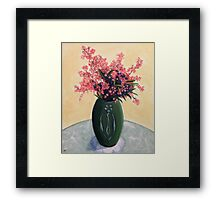 NSW Christmas Bush in an Arts & Crafts Vase Framed Print