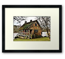 .....if only ! Bowood Fishing Lodge Framed Print