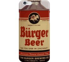 Vintage Burguer beer can. iPhone Case/Skin