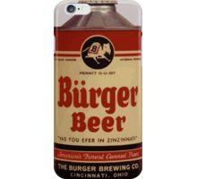 BEER - Vintage Burguer can. iPhone Case/Skin