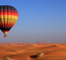 Hot Desert Balloon by David Clark