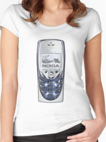 Awesome funny retro phone  Women's Fitted Scoop T-Shirt