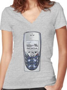 Awesome funny retro phone  Women's Fitted V-Neck T-Shirt