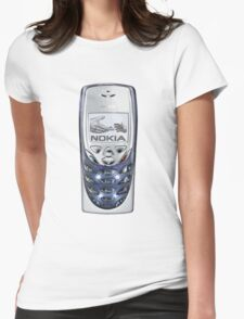 Awesome funny retro phone  Womens Fitted T-Shirt