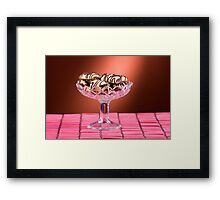sponge cookies with chocolate Framed Print