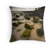 Mist on Moss Throw Pillow