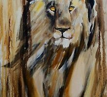 Lion Approaching by TASHHOFER